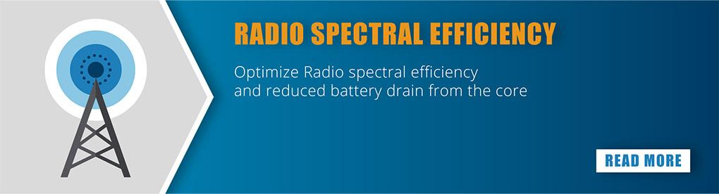 Radio spectral efficiency